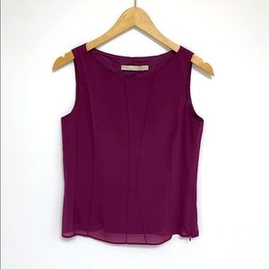 G2000 Purple Sleeveless Blouse XS